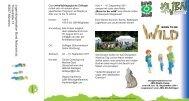 Flyer Born to be wild - Jugendorganisation Bund Naturschutz