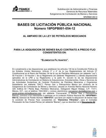 Bases - Pemex Gas y Petroquímica Básica
