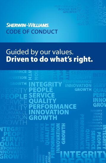 Code of Conduct - Investor Relations - Sherwin-Williams