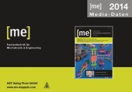 Mediadaten 2014 - Mechatronik & Engineering ONLINE