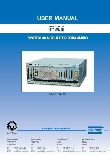 PXI Software Manual ACROBAT.pdf - Pickering Interfaces