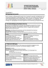 Arbeitsblatt 4: Befragungsinstrumente - Pastorale Informationen