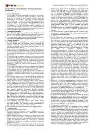 General Terms and Conditions of Purchase (Purchase ... - FTI Group