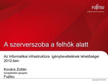 Szolgáltatási modellek a közigazgatásban - Fujitsu info