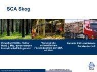 Präsentation SCA Skog - SCA Forest Products AB