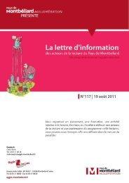 N°117   19 août 2011 - Pays de Montbéliard Agglomération