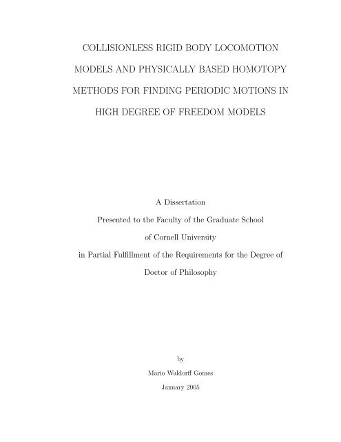 PhD thesis - Andy Ruina - Cornell University