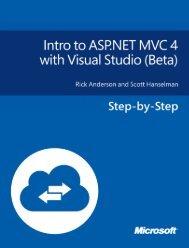 Intro to ASP.NET MVC 4 with Visual Studio - Beta
