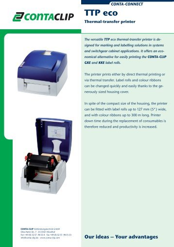 Thermal-transfer printer TTP eco - CONTA-CLIP