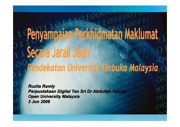 Ruzita Ramly Perpustakaan Digital Tan Sri Dr Abdullah Sanusi ...