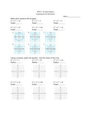 Graphing Circles WS