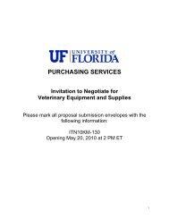 ITN10KM-130 - UF Purchasing - University of Florida
