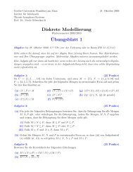 Blatt 1 - Theorie komplexer Systeme - Goethe-Universität