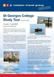 St Georges College Study Tour - Mission Travel