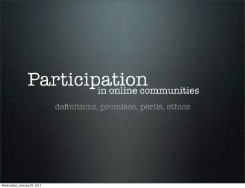 in online communities