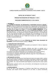 Pregão por RP 001/2013 - Crea-RJ