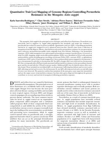 Quantitative Trait Loci Mapping of Genome Regions Controlling ...