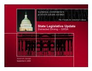 NATIONAL CONFERENCE of STATE LEGISLATURES The Forum for