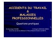 accidents du travail & maladies professionnelles - ammppu