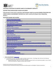 ADDITIONAL PROVISIONS FOR ORDERS UNDER US ... - Suppliers