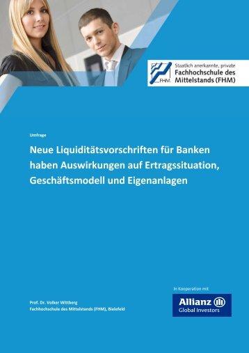 Neue Liquiditätsvorschriften für Banken haben Auswirkungen auf ...