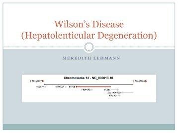Wilson's Disease (Hepatolenticular Degeneration)