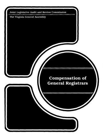Compensation of General Registrars - Virginia Joint Legislative ...