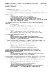 Kokouksen pöytäkirja - Suomen Ajokoirajärjestö