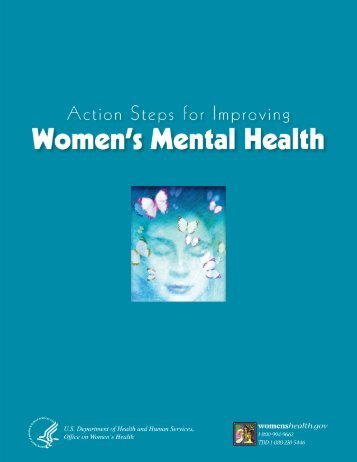 Action Steps for Improving Women's Mental Health - Department of ...
