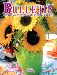 July 2012 Bulletin - Allegheny County Medical Society
