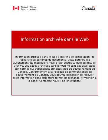 archivé - Collège militaire royal du Canada - Ministère de la défense ...