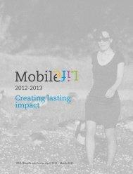 Creating lasting impact - Mobile Life