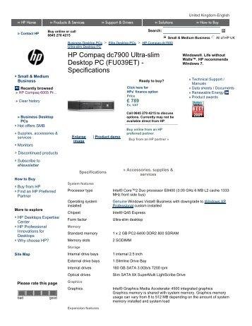 hp compaq 8000 elite ultra slim desktop manual