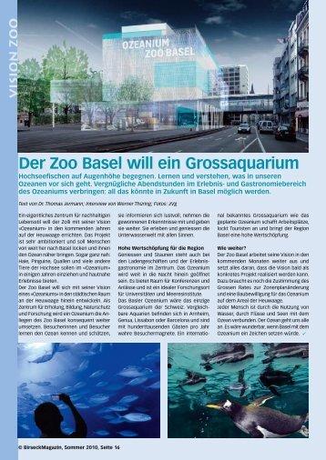 Der Zoo Basel will ein Grossaquarium - Birseck Magazin