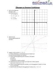 Aufgabe zu linearen Funktionen und Geraden - aus6mach1