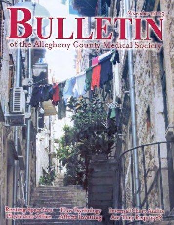 November 2009 Bulletin - Allegheny County Medical Society