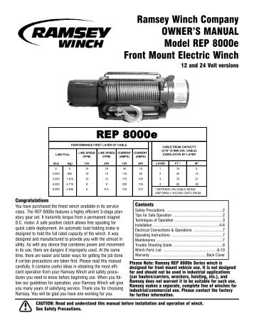 ramsey dc 7 or dc 7b winch