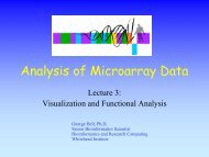 Analysis of Microarray Data - Bioinformatics and Research ...