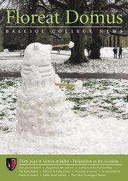 Issue 15, 2009 - Balliol College - University of Oxford