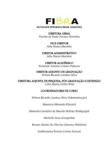 1 DIRETORA GERAL Vicente de Paulo Tavares Noronha ... - FIBRA.