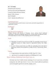 Dr. C. B. Pandey Principal Scientist (Forestry ... - CSSRI Karnal