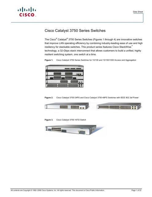 Cisco Catalyst 3750 Series Switches - Used Network Equipment