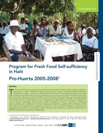 Pro-Huerta 2005-20081