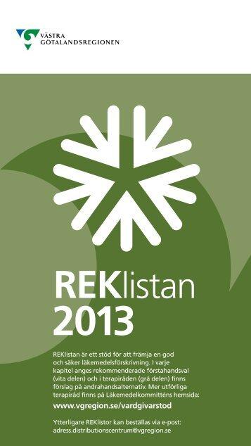 REK-listan - Vgregion.se - Västra Götalandsregionen