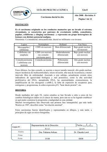 GUÍA DE PRÁCTICA CLÍNICA Gin-8 Año 2008 - Revisión ... - osecac