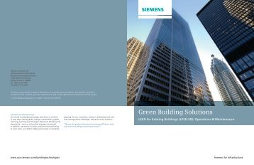 LEED for Existing Buildings - Siemens