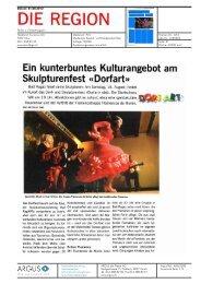 Ein kunterbuntes Kulturangebot am Skulpturenfest ... - Bad Ragartz