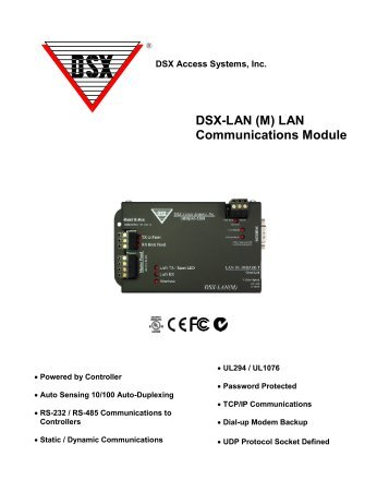 dsx tdm time display module dsx access systems, incdsx lan (m) lan communications module dsx access systems