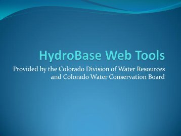 HydroBase Web Tools - Colorado Division of Water Resources