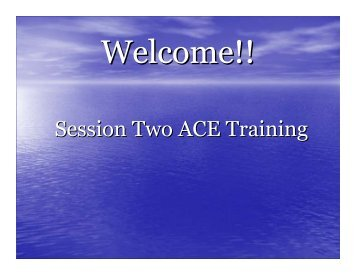 Session Two ACE Training